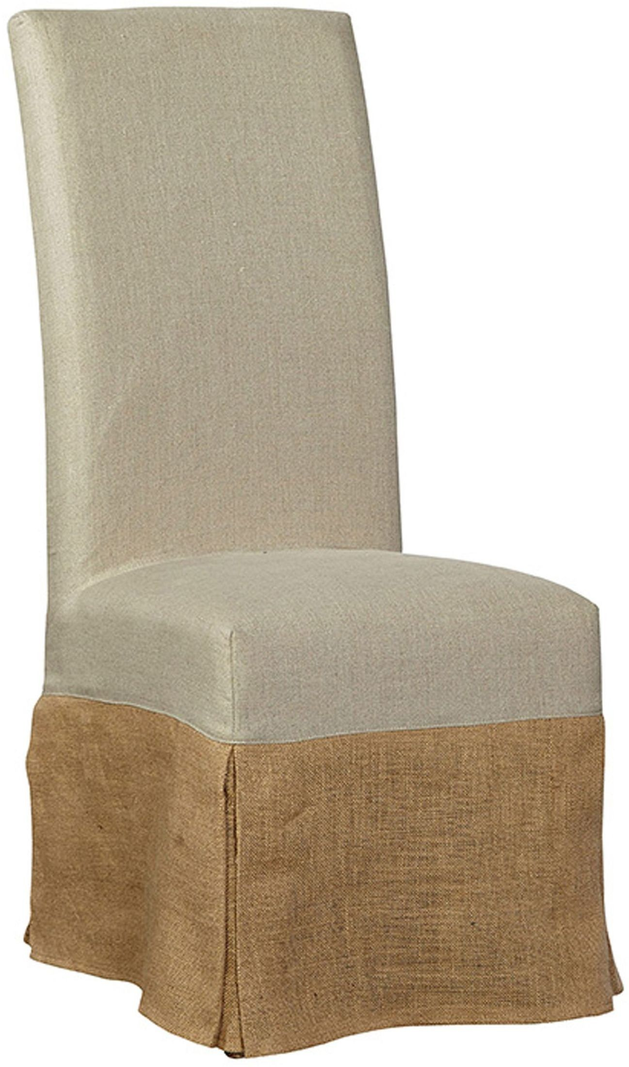 Burlap Chairs Cream Burlap Slip Covered Parsons Chair Set Of 2 From