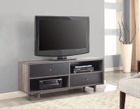 Distressed Grey and Black TV Stand from Coaster | Coleman ...