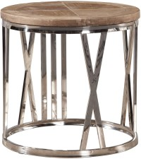 Round Stainless Steel End Table from Furniture Classics ...