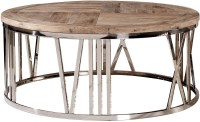 Round Stainless Steel Coffee Table from Furniture Classics ...