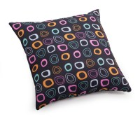Kitten Chocolate base and mutlicolor pattern Small Pillow ...