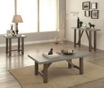 Concrete Top Occasional Table Set Coaster 704248