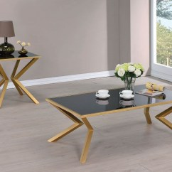 Occasional Table And Chairs Folding Chair India Black Glass Brushed Brass Set From