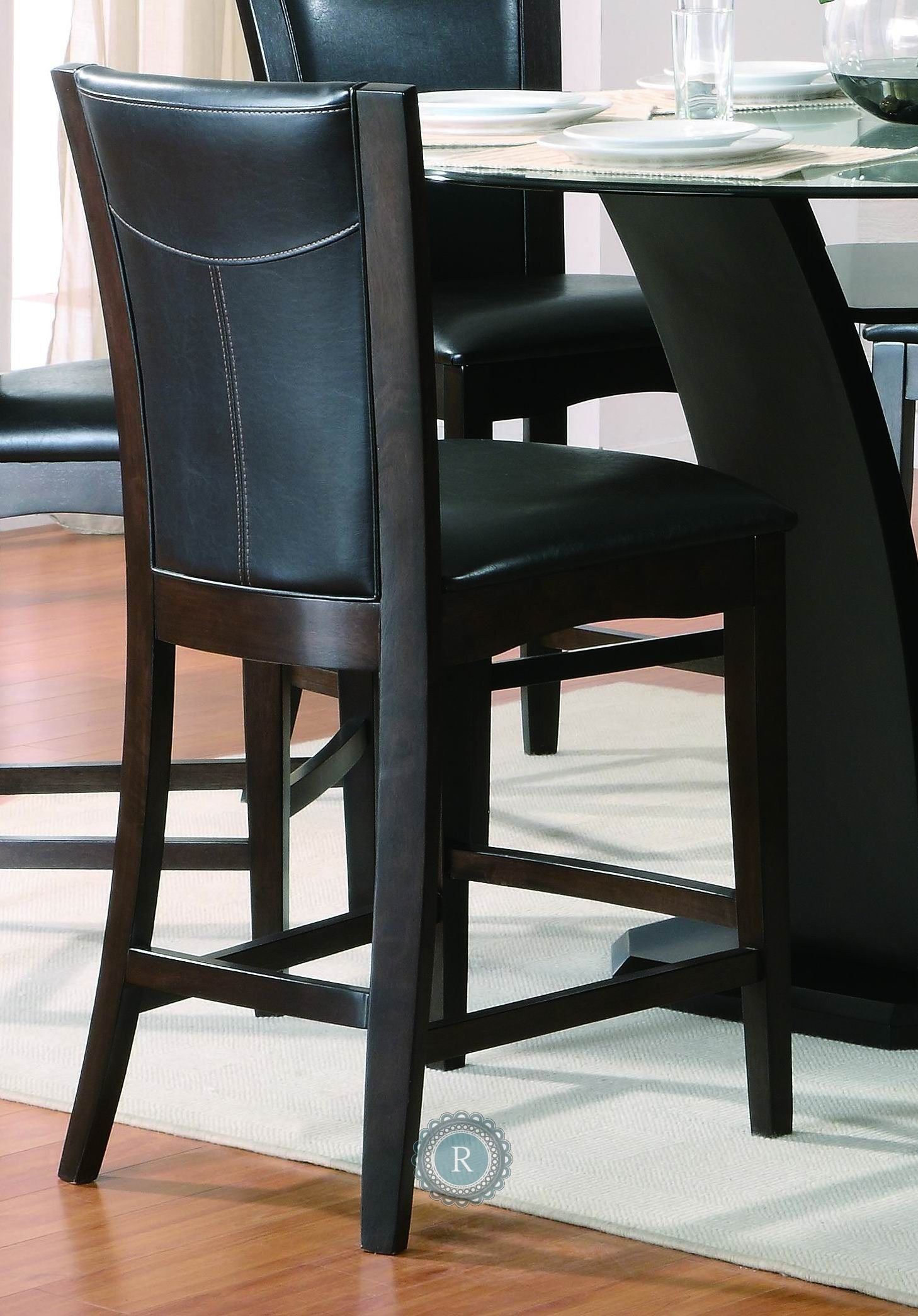 Counter Height Chair Daisy Black Counter Height Chair From Homelegance 710 24