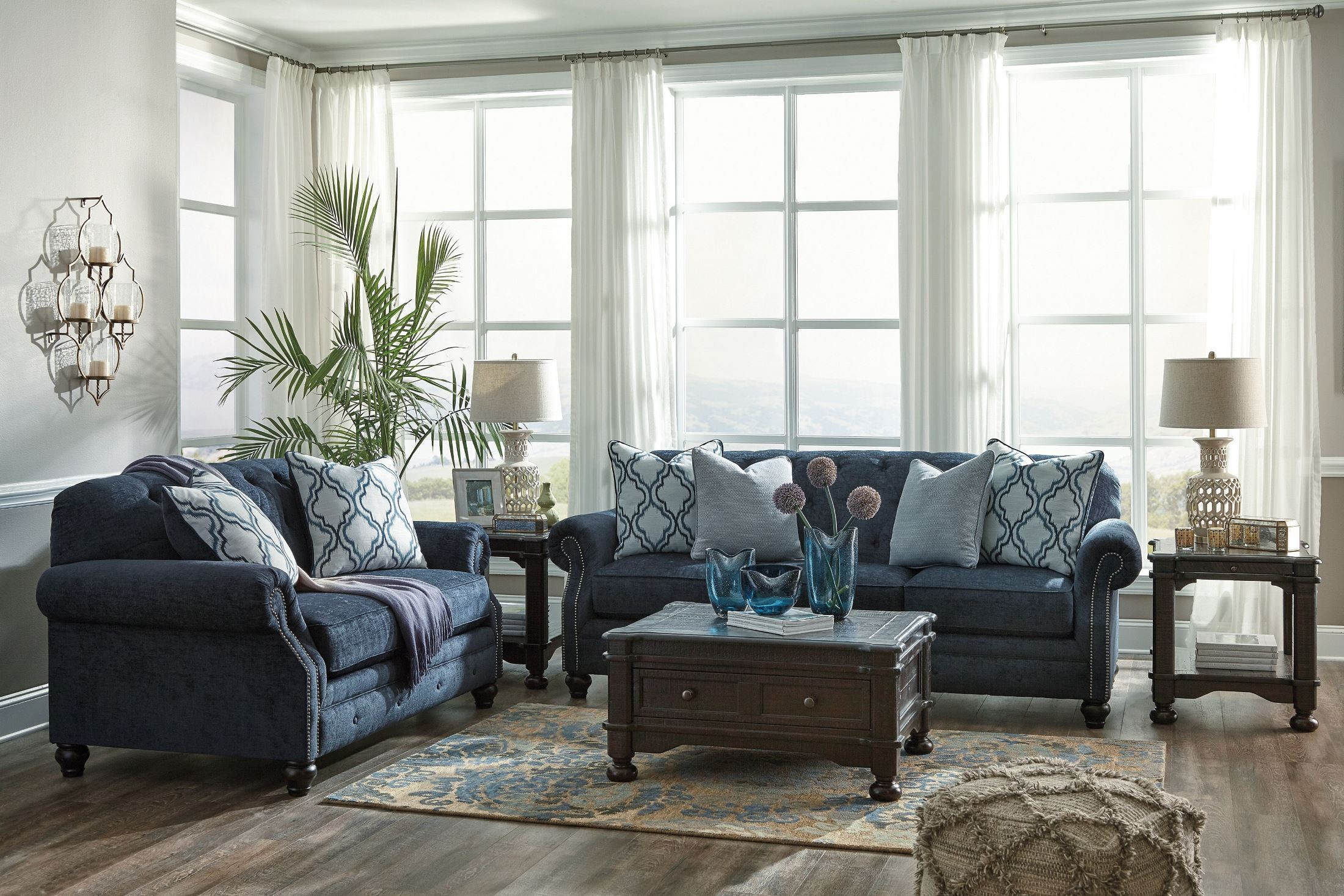 cloud sofa for sale best bed mattress replacement reviews lavernia navy living room set from ashley | coleman furniture