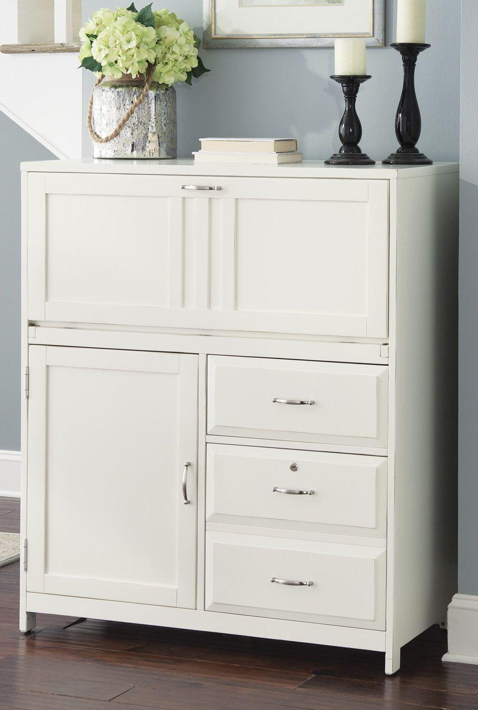 Hampton Bay White Computer Cabinet 715HO108 Liberty