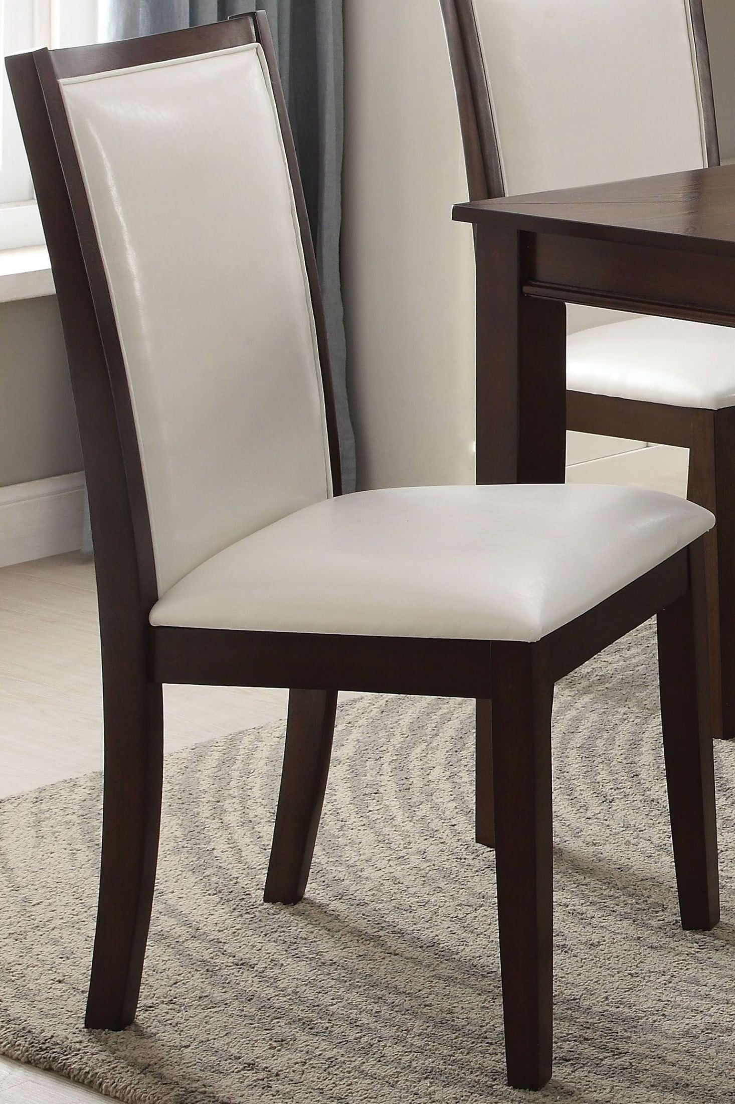 Eastfall White Side Chair Set of 2 from Acme  Coleman