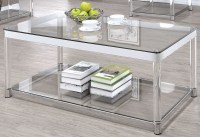 Chrome and Clear Acrylic Rectangular Coffee Table from ...