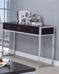 Cappuccino And Chrome Sofa Table from Coaster | Coleman ...