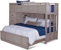Provo Driftwood Patina Twin Over Full Loft Bed from