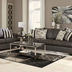 Ashley Sofa Sale Outdoor Contemporary Wicker Levon Charcoal Living Room Set From (73403 ...