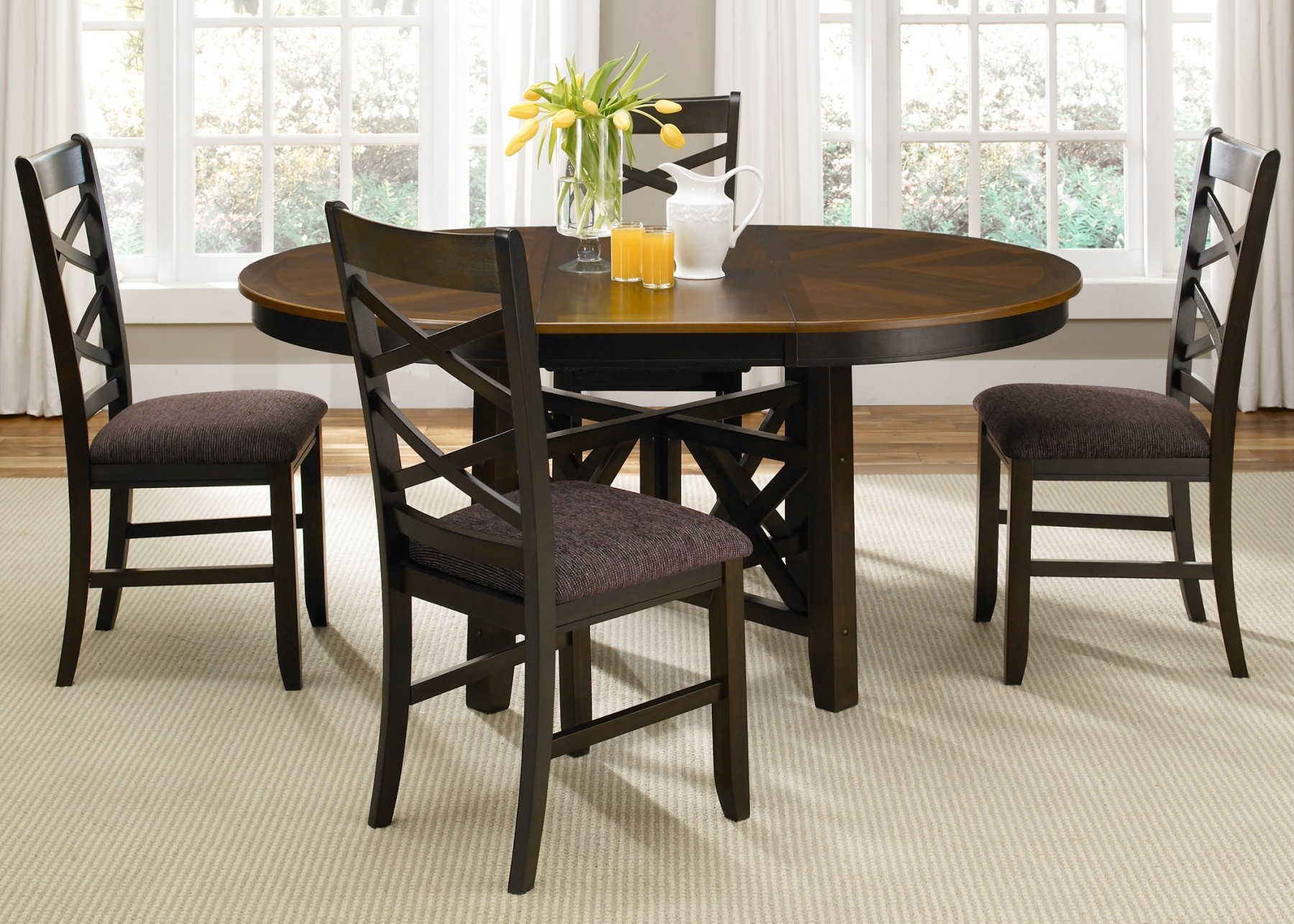 bistro chairs dining room high end computer chair ii oval extendable pedestal set from