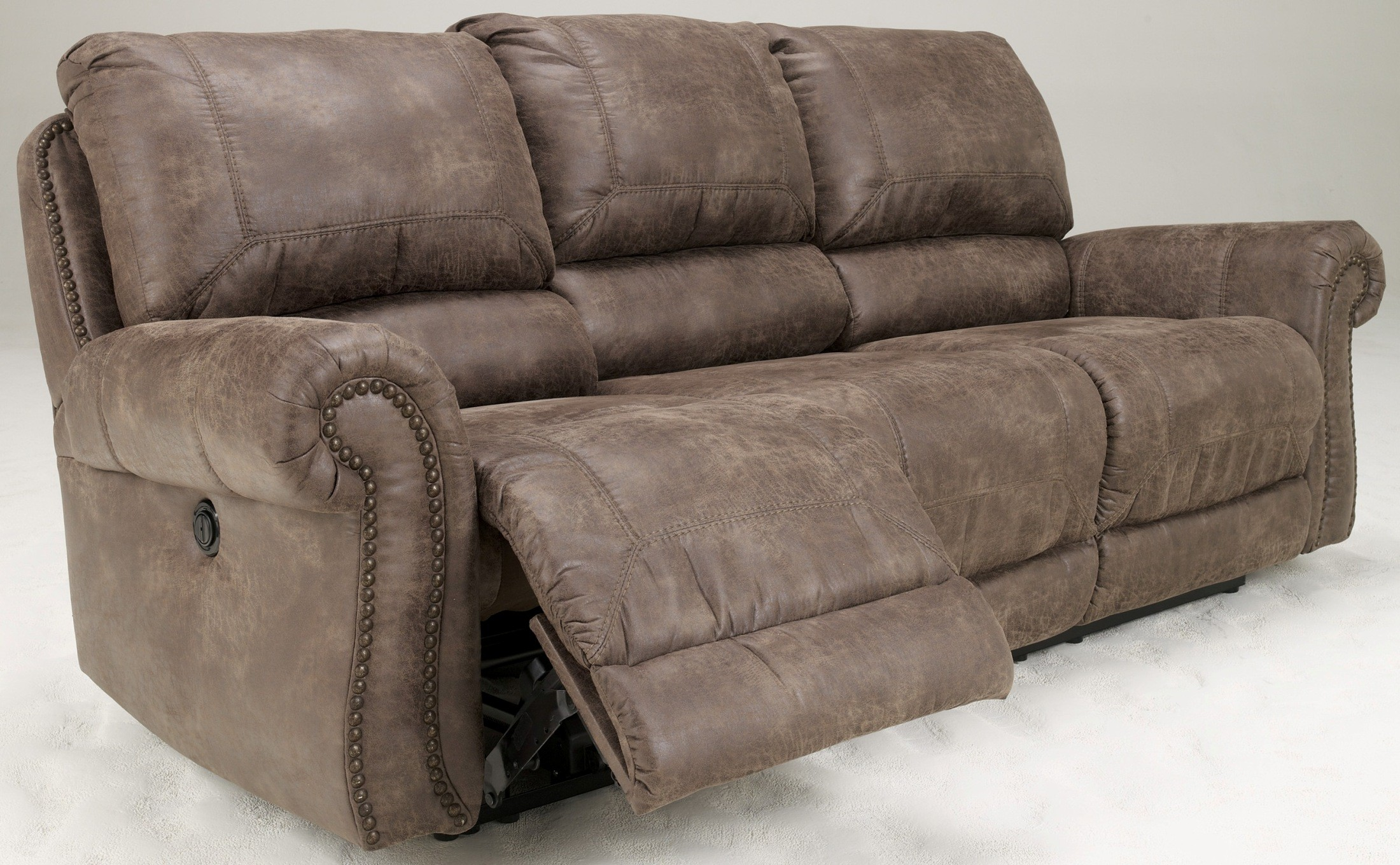 ashley sofa recliner parts bad credit rating oberson gunsmoke power reclining from 7410087