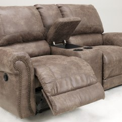 Double Recliner Chairs Foldable With Cushions Oberson Gunsmoke Power Reclining Loveseat