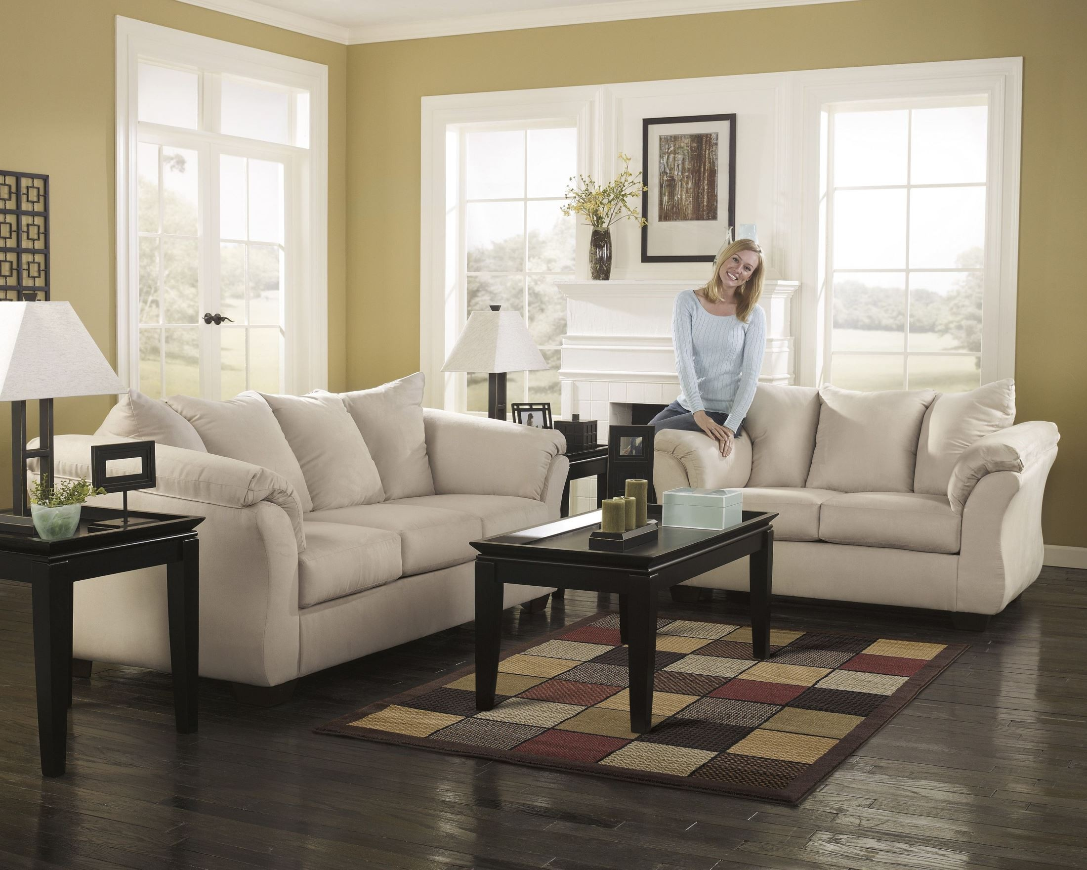 darcy sofa chaise ashley furniture ciak stone sectional from 7500018