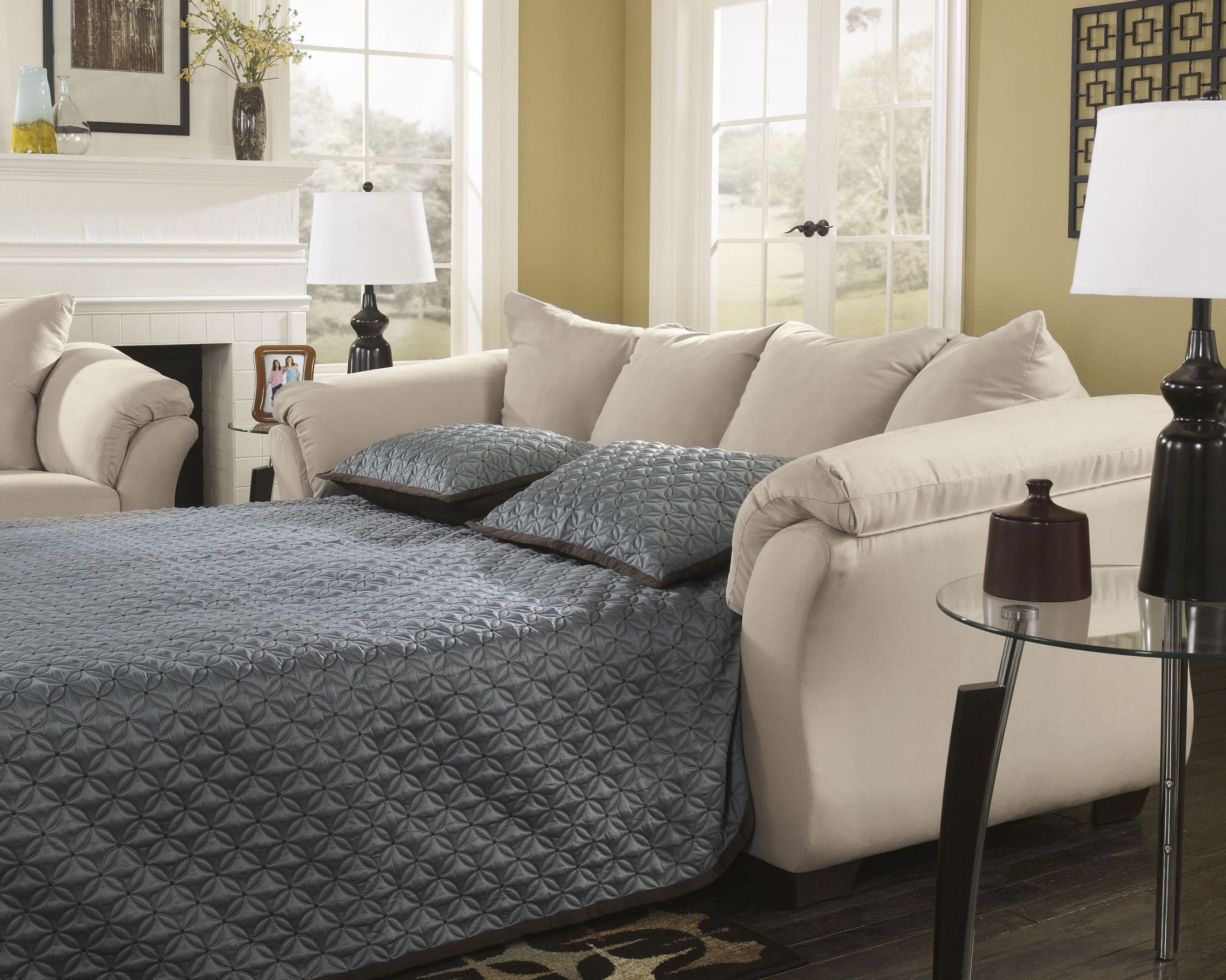 darcy sofa chaise ashley furniture cama precio panama stone full sleeper from 7500058