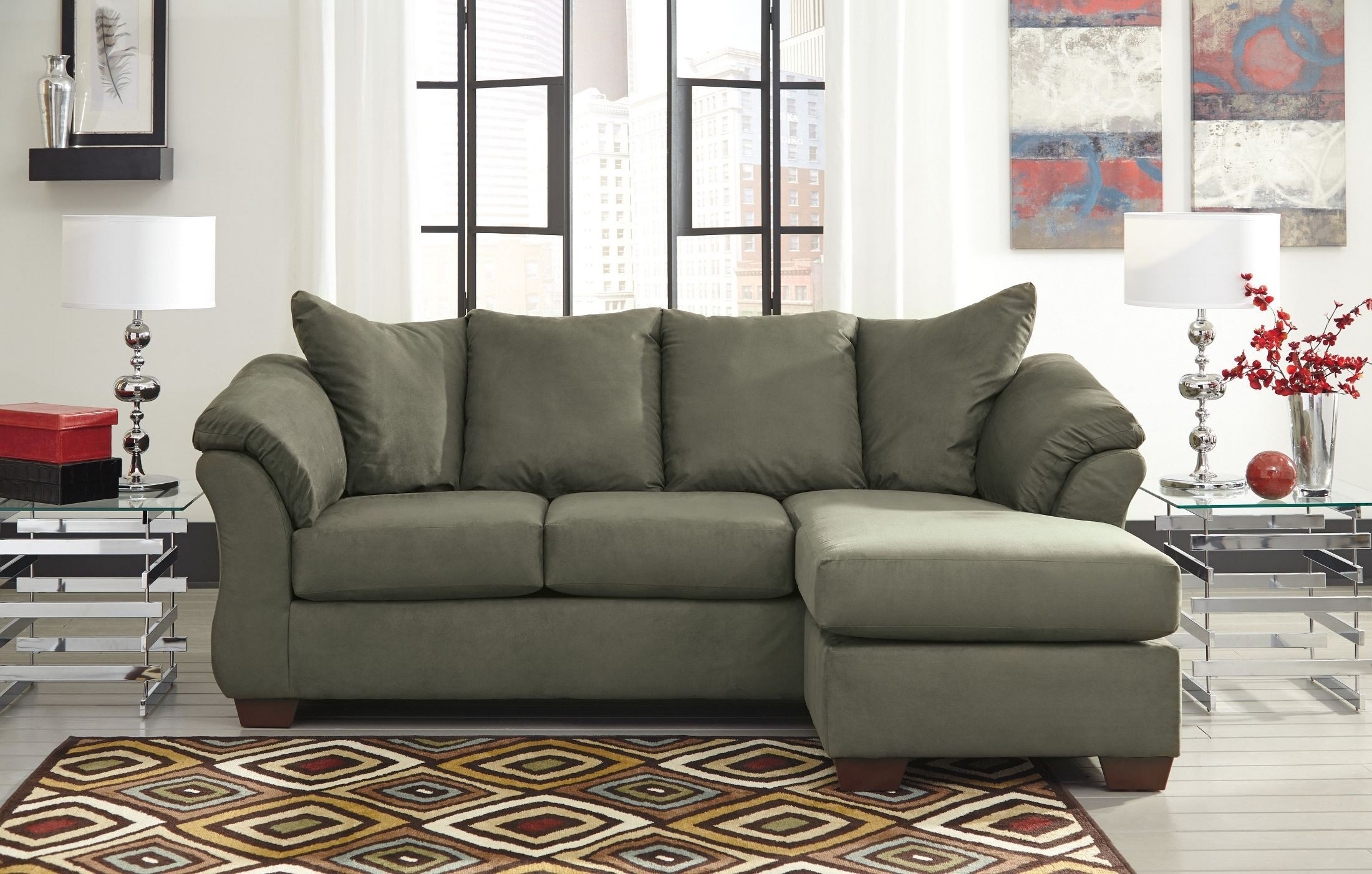 Darcy Sage Chaise Sectional From Ashley 7500318