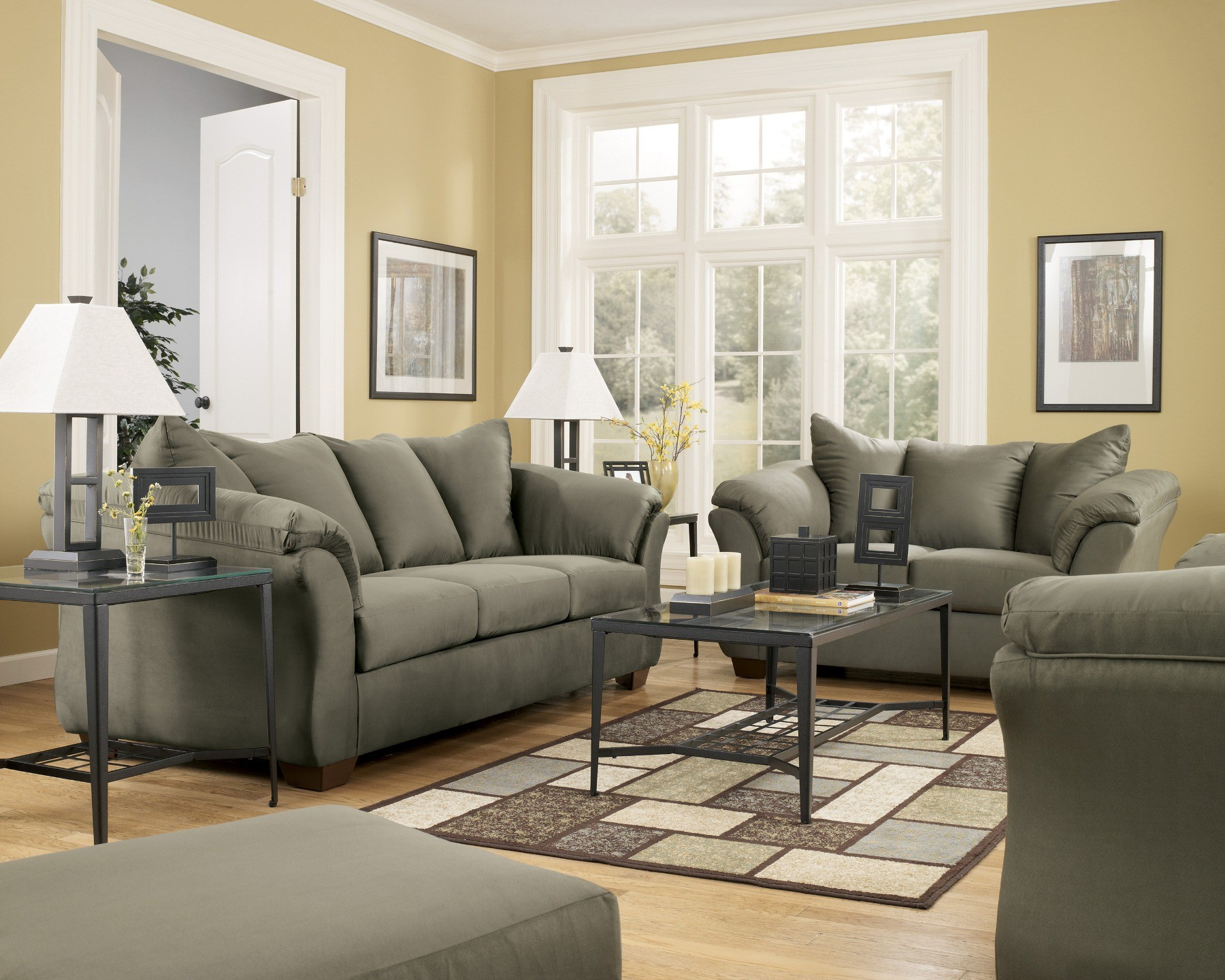 ashley furniture darcy sofa sleeper selig z sage full from 7500336