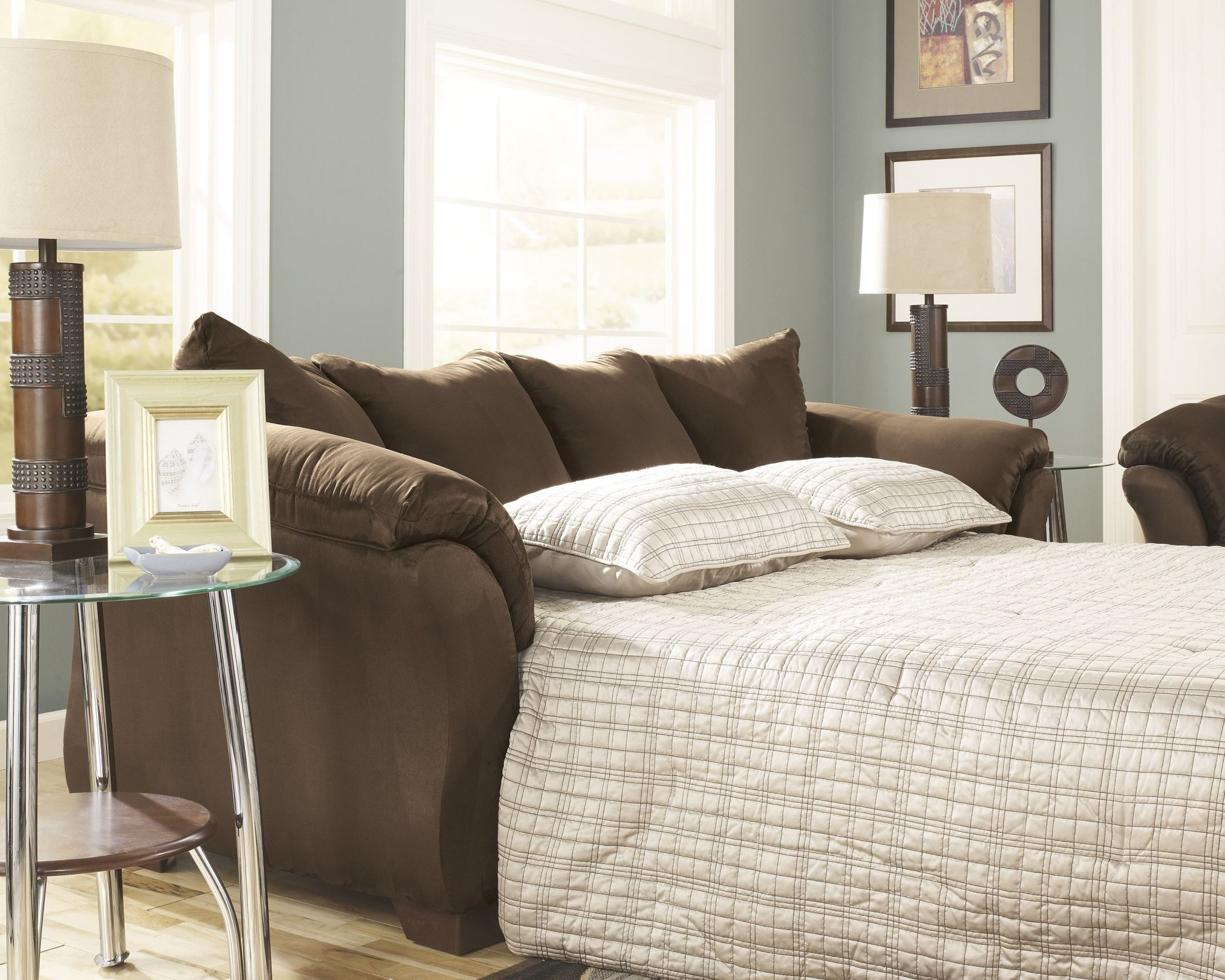 ashley darcy sleeper sofa review chair single cafe full chaise from 7500458