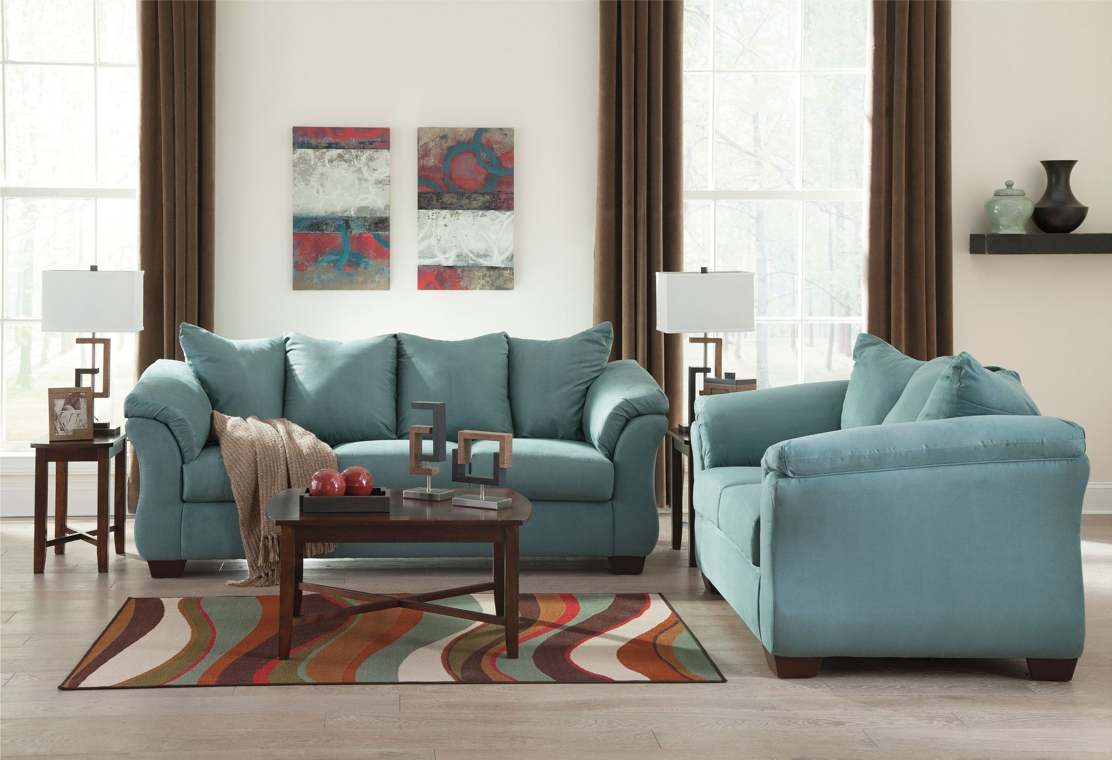 ashley furniture darcy sofa sleeper costco recliners sky full from 7500636