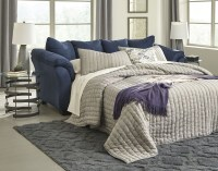 Darcy Blue Full Sofa Sleeper from Ashley | Coleman Furniture