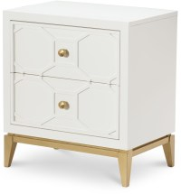 Uptown White and Gold Night Stand from Racheal Ray Home ...