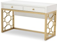 Uptown White and Gold Vanity from Racheal Ray Home ...