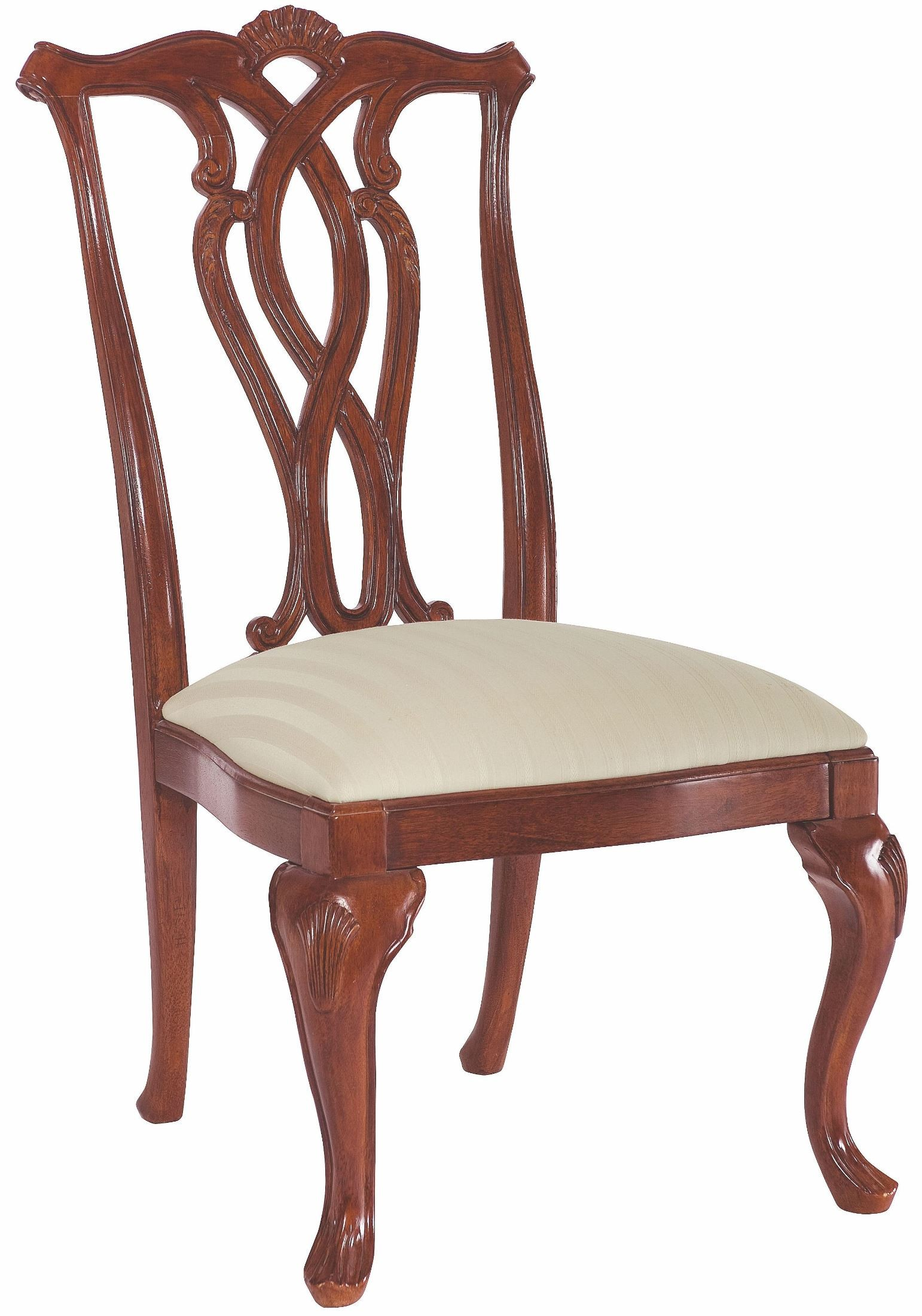 Cherry Chairs Cherry Grove Classic Antique Cherry Pierced Back Side
