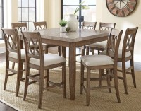 Franco Square Marble Top Counter Height Dining Room Set ...