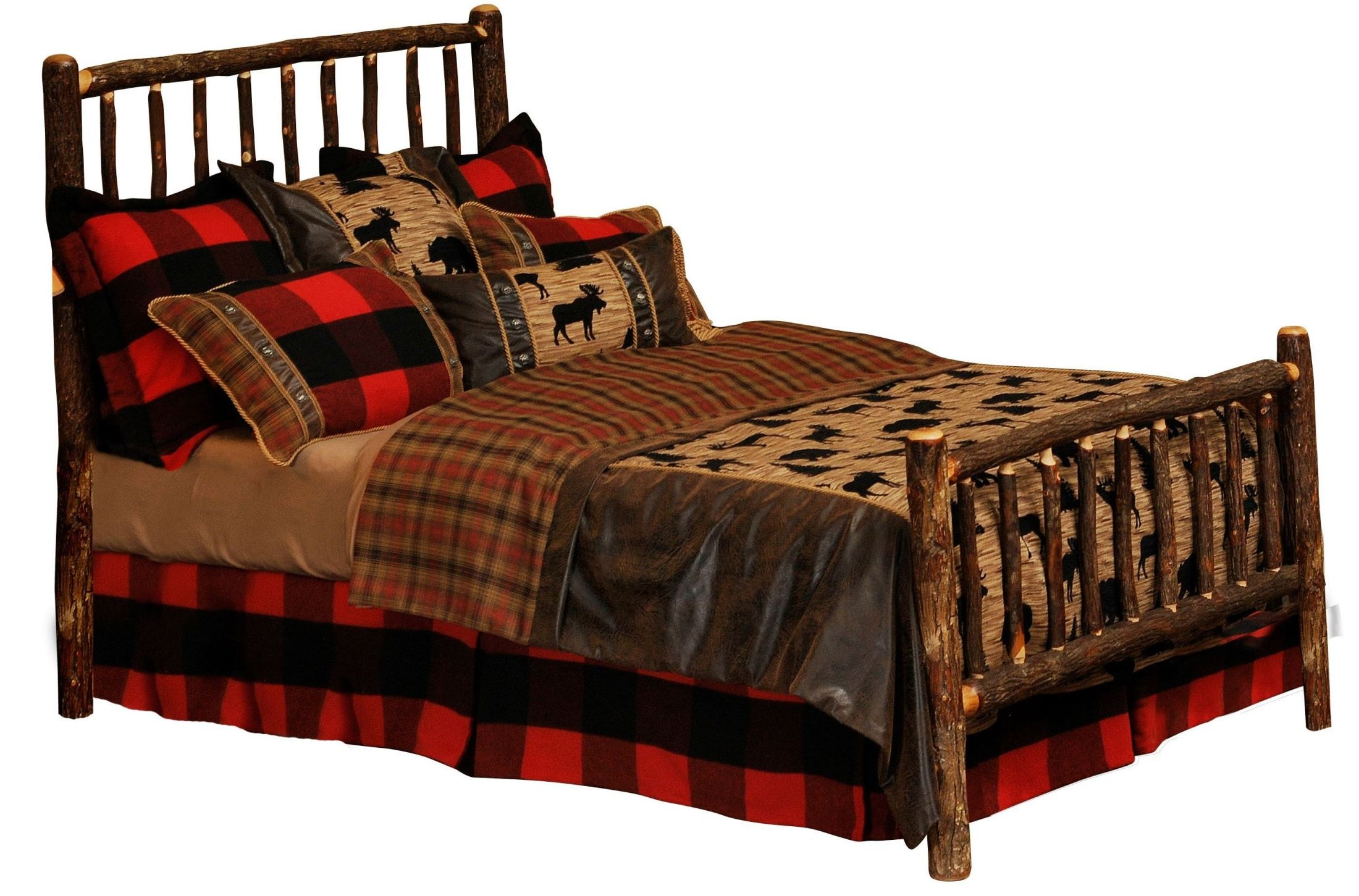hickory chair king size bed blaisdell counter height armchair cal log with rails from fireside
