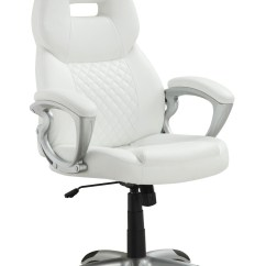 White Bucket Chair Good Posture Easy 800150 Seat Office From Coaster
