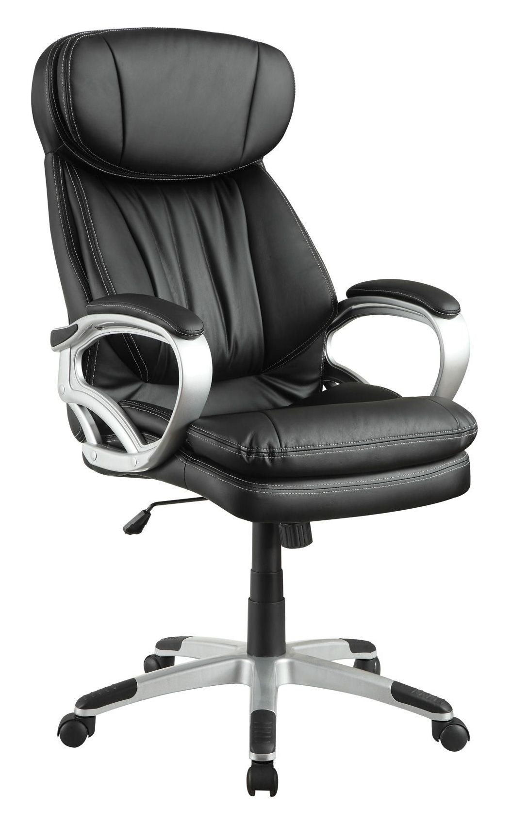 800165 Black Upholstered Office Chair from Coaster 800165