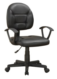 800178 Grey Leather Swivel Chair from Coaster (800178 ...