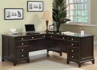 Garson Home Office L Shaped Desk from Coaster (801011L ...
