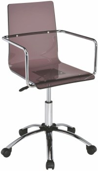 Smoke Acrylic Office Chair, 801437, Coaster Furniture