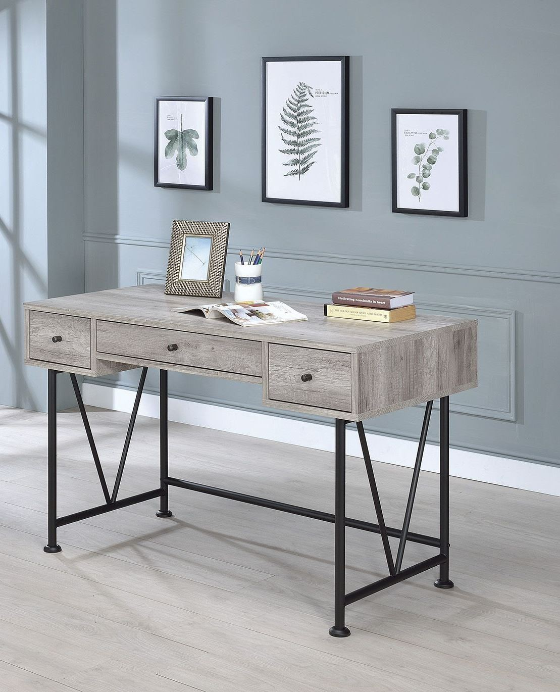 Guthrie Gray Driftwood Writing Desk from Coaster Coleman