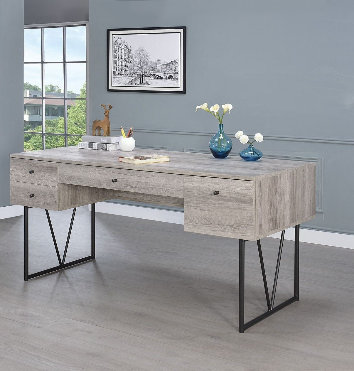 Analiese Gray Driftwood Writing Desk from Coaster
