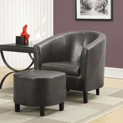 Accent Chair And Ottoman French Style Bistro Table Chairs Charcoal Gray With From Monarch 8054