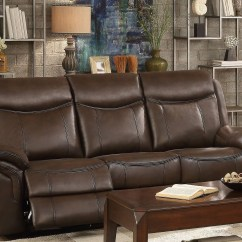 Reclining Sofa Brands Settee Bed Aram Dark Brown Double From Homelegance ...