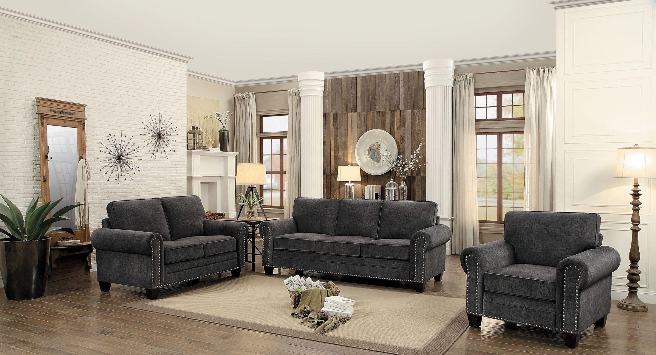 Cornelia Dark Grey Living Room Set from Homelegance