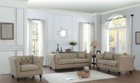 Marceau Tan Living Room Set from Homelegance | Coleman ...