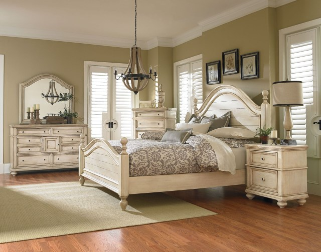 Chateau Antique French Bisque Poster Bedroom Set from Standard
