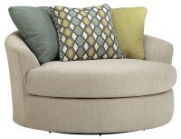 Casheral Linen Oversized Swivel Accent Chair from Ashley ...