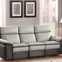 Grey Power Reclining Sofa Spanish Sofas Uk Otto Gray Double From Homelegance
