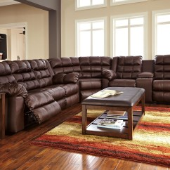 Ashley Sofa Recliners Innovation Sale Brolayne Durablend Brown Reclining Sectional From ...