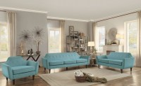 Ajani Teal Living Room Set from Homelegance