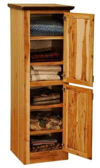 "Hickory 18"" Linen 2 Single Doors Cabinet With Hinged Right"