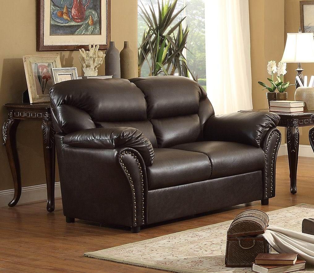 Stinett Dark Brown Living Room Set From Homelegance