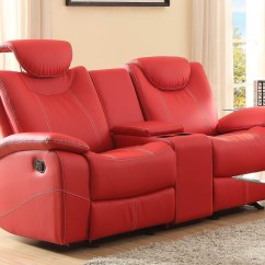 Glider Sofas Jack Knife Sofa Talbot Red Double Reclining Loveseat With Console