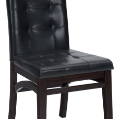 Espresso Dining Chair Recliner With Laptop Table Chadwick Faux Leather Tufted Back Upholstered